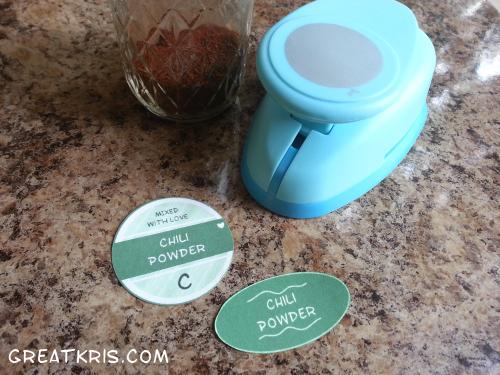 Kristina's spice jar organization!
